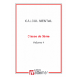 COLLECTION HATTEMER - Calcul mental de 3ème (Facultatif)
