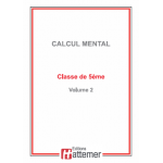 COLLECTION HATTEMER - Calcul mental de 5ème (Facultatif)