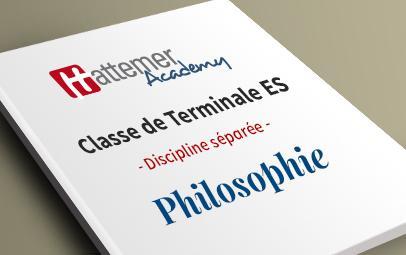 Terminale ES - Philosophie
